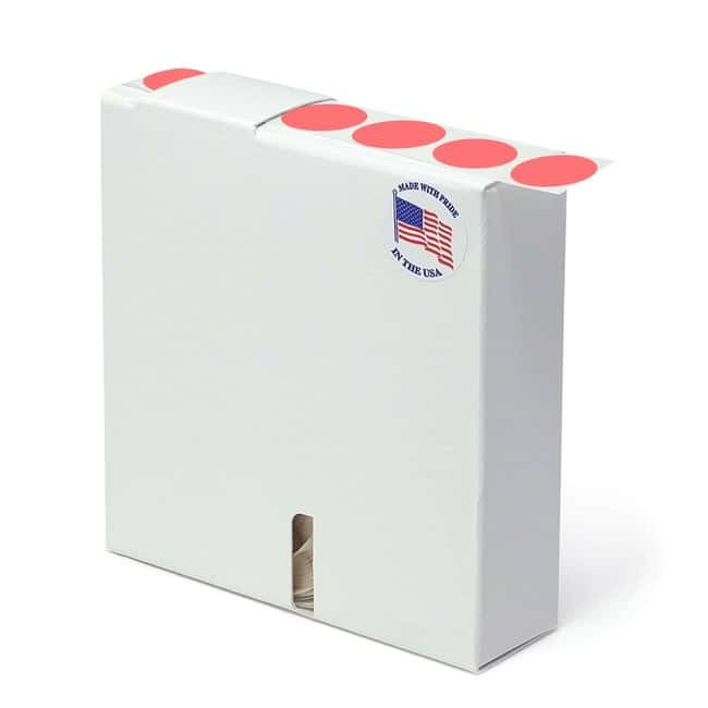 FisherbrandFlourescent Blank Dot Circle Label Red:Facility Safety and Maintenance