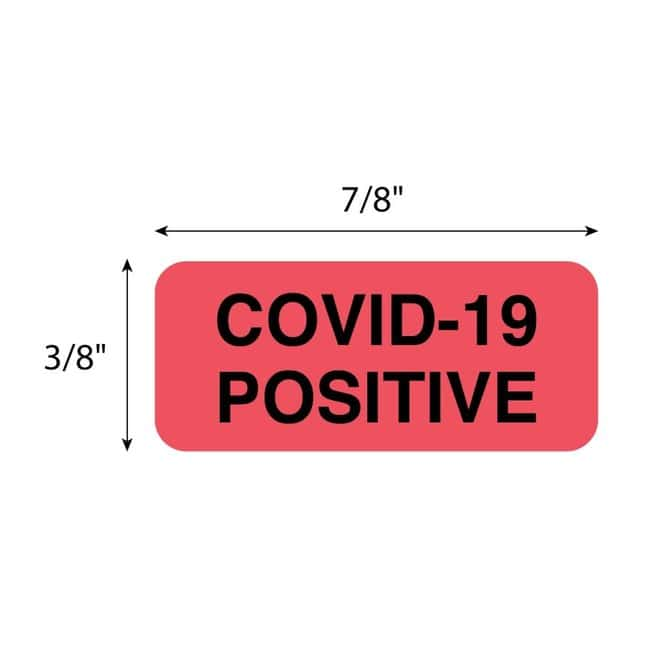 FisherbrandCOVID-19 Positive Label Red:Facility Safety and Maintenance