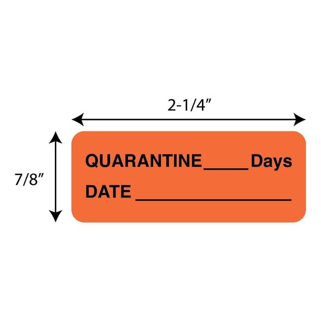 FisherbrandQuarantine___Days  Date Label Orange:Facility Safety and Maintenance