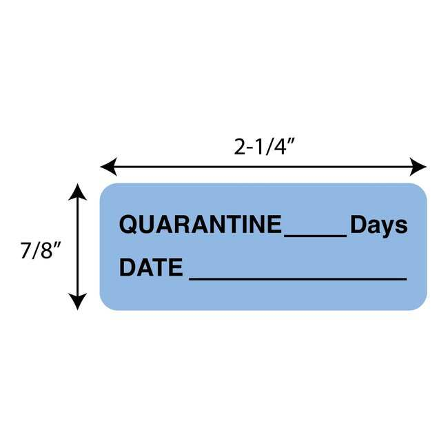 FisherbrandQuarantine___Days  Date Label Blue:Facility Safety and Maintenance