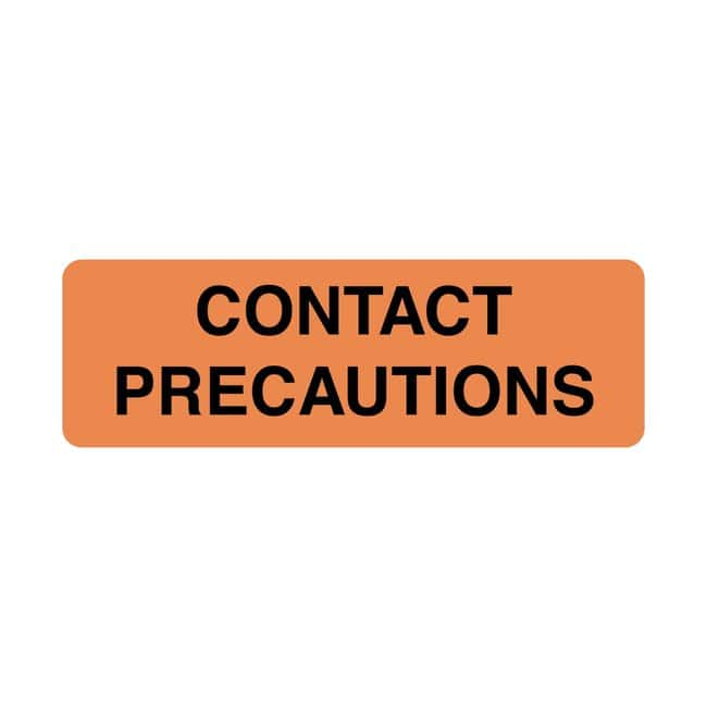 FisherbrandContact Precautions Label Orange:Facility Safety and Maintenance