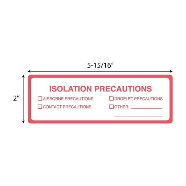 FisherbrandIsolation Precautions Rectangle Label Rectangle:Facility Safety