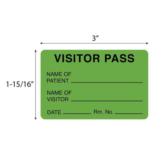 FisherbrandVisitor Pass Label Green:Facility Safety and Maintenance