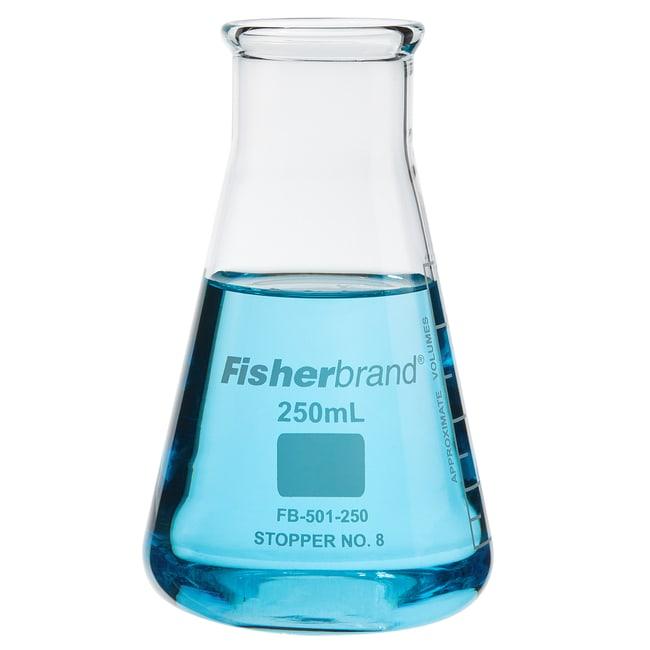 FisherbrandReusable Glass Wide-Mouth Erlenmeyer Flasks 250mL; Graduated