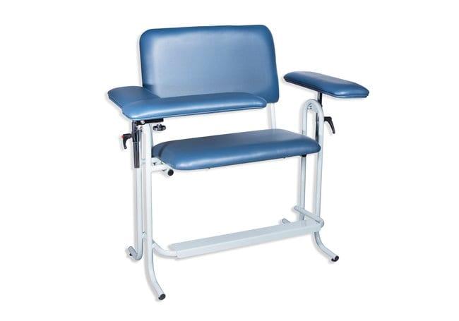 DUKAL Tech-Med Upholstered Blood Drawing Chair, Wide Upholstered, Flip