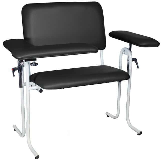 DUKAL Tech-Med Upholstered Blood Drawing Chair, Wide Upholstered, Flip