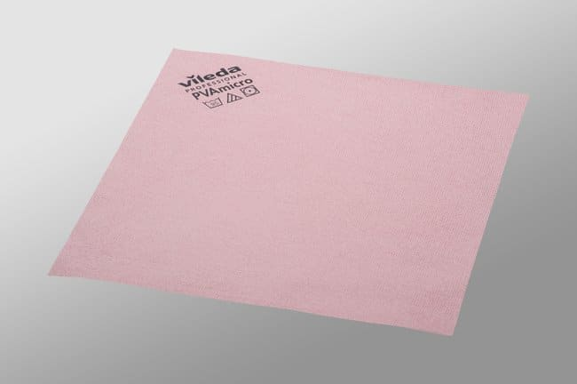 Vileda Professional PVAmicro Cloth Size: 13x15in; Red; 5/Pk, 20pks/CS.:Gloves,