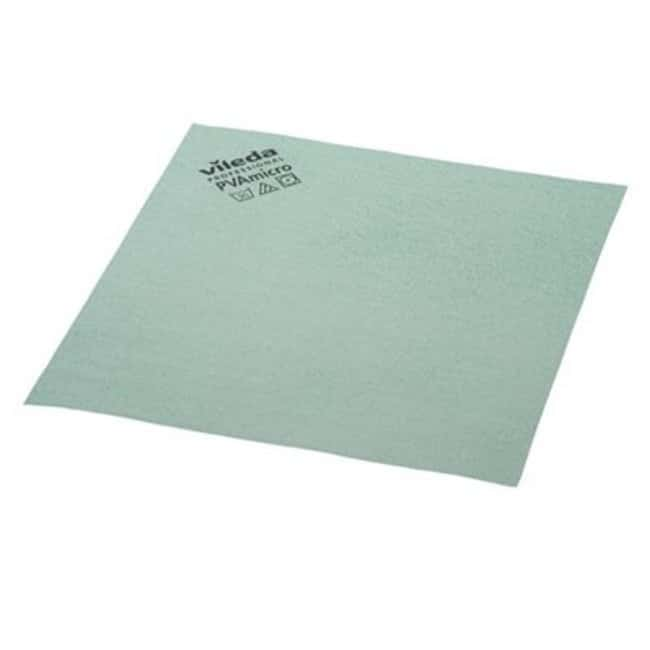 Vileda Professional PVAmicro Cloth Size: 13x15in; Green; 5/Pk, 20pks/CS.:Gloves,