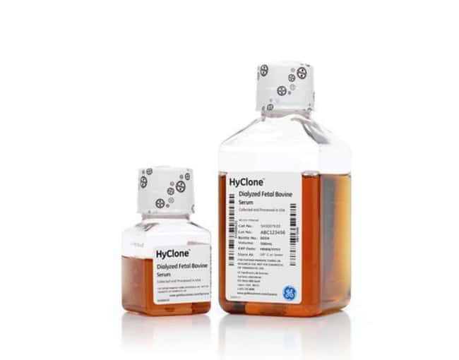 GE HealthcareHyClone™ Fetal Bovine Serum (U.S.), Dialyzed Description: Dialyzed Fetal Bovine Serum, US Origin, Heat Inactivated, Quantity: 50 mL, dimProcessing: Heat Inactivated GE HealthcareHyClone™ Fetal Bovine Serum (U.S.), Dialyzed