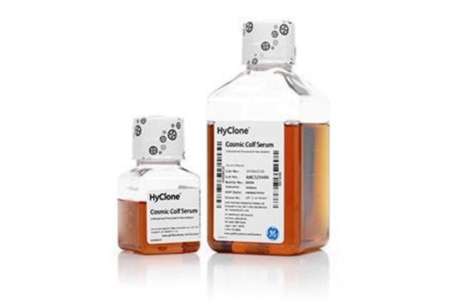 CytivaHyClone™ Cosmic Calf Serum (New Zealand origin) Product Type: Heat Inactivated Cosmic Calf Serum, New Zealand origin, Quantity: 500 mL CytivaHyClone™ Cosmic Calf Serum (New Zealand origin)