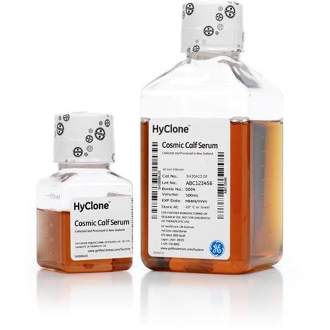 CytivaHyClone™ Cosmic Calf Serum (New Zealand origin) Product Type: Gamma Irradiated Cosmic Calf Serum, New Zealand origin, Quantity: 1 L CytivaHyClone™ Cosmic Calf Serum (New Zealand origin)