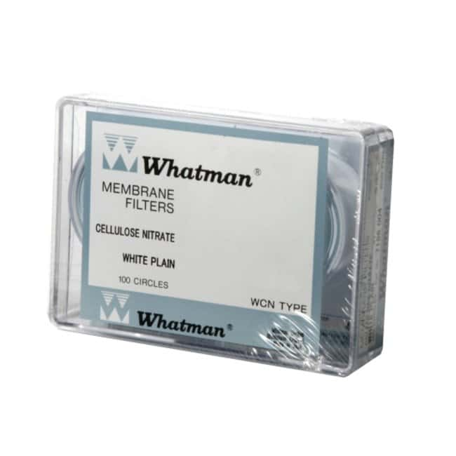 Cytiva (Formerly GE Healthcare Life Sciences)Whatman™ Cellulose Nitrate Membrane Filters Pore size: 12μm; Diameter: 2.75in. (50mm) Cytiva (Formerly GE Healthcare Life Sciences)Whatman™ Cellulose Nitrate Membrane Filters