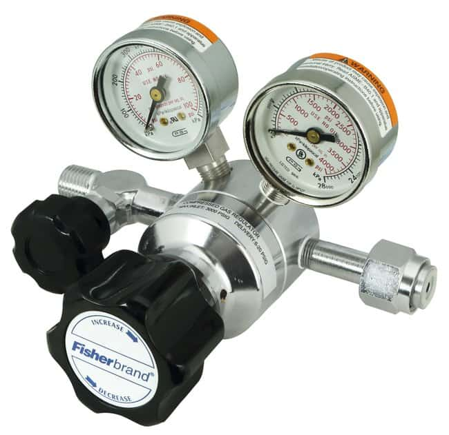 Fisherbrand Single-Stage Lecture Bottle Gas Regulators Delivery Range:
