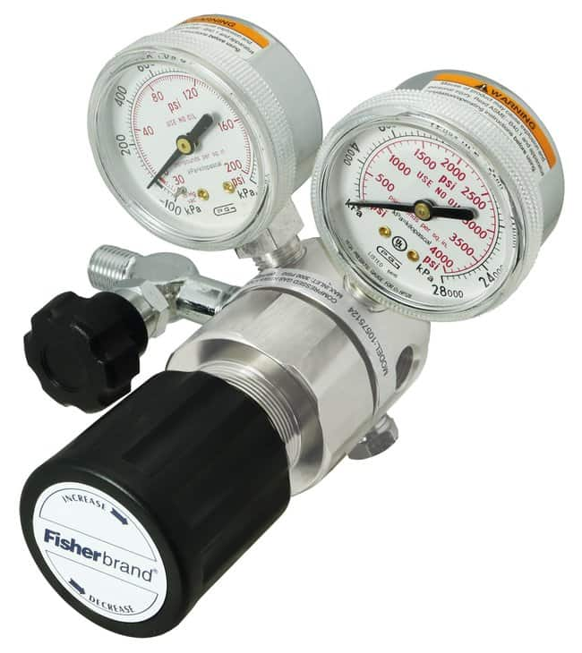 FisherbrandHigh-Purity Brass Single-Stage Regulators Delivery Range 20-500psi(MPa):Gases