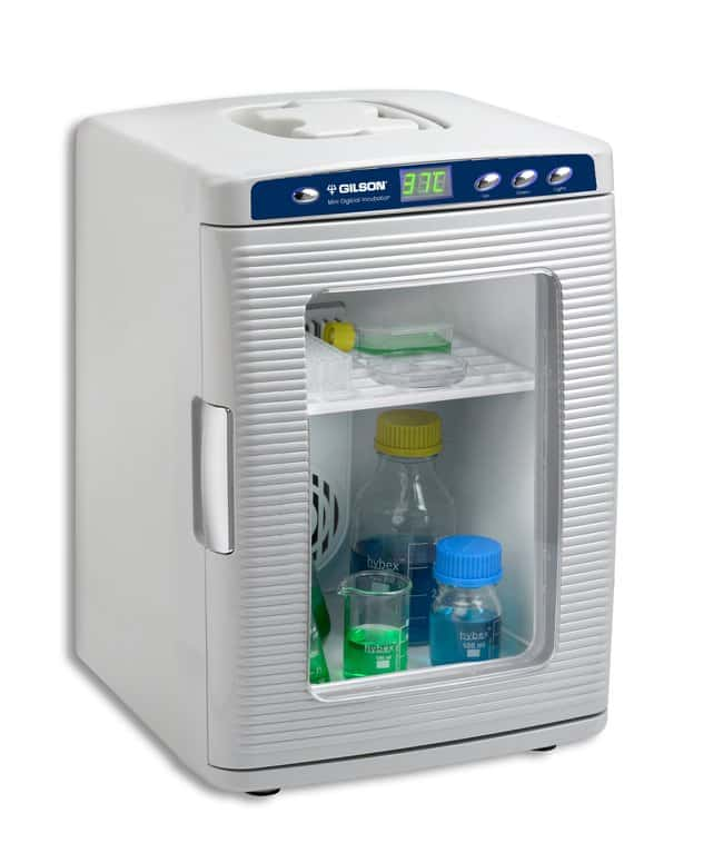 Gilson™Mini Incubateur digital chauffant Incubateur avec chauffage uniquement, ambiante -15°C à 60°C, prise UE Gilson™Mini Incubateur digital chauffant