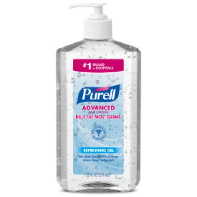 Purell Advanced Hand Sanitizer Gel Table Top Pump Bottle; 20 oz.; Qty: