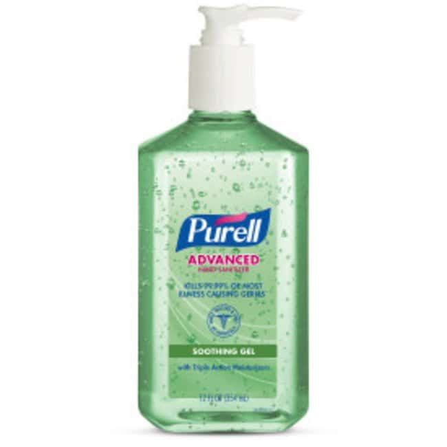 Purell Advanced Hand Sanitizer Soothing Gel Table Top Pump Bottle; 12 oz;