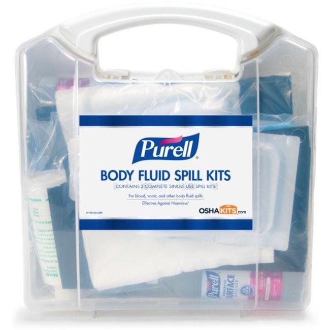 Purell Body Fluid Spill Kit Spill kit; 22 in x 16 in:Gloves, Glasses and
