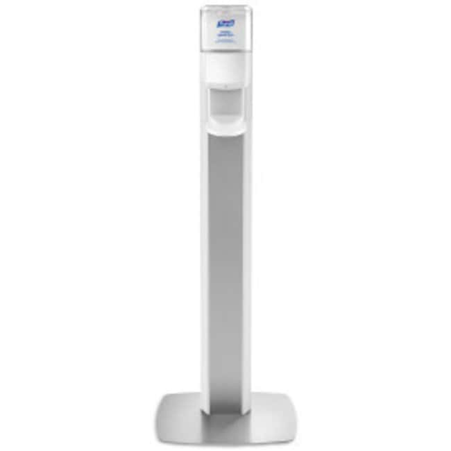 Purell MESSENGER ES8 Floor Stand with Dispenser Silver:Wipes, Towels and