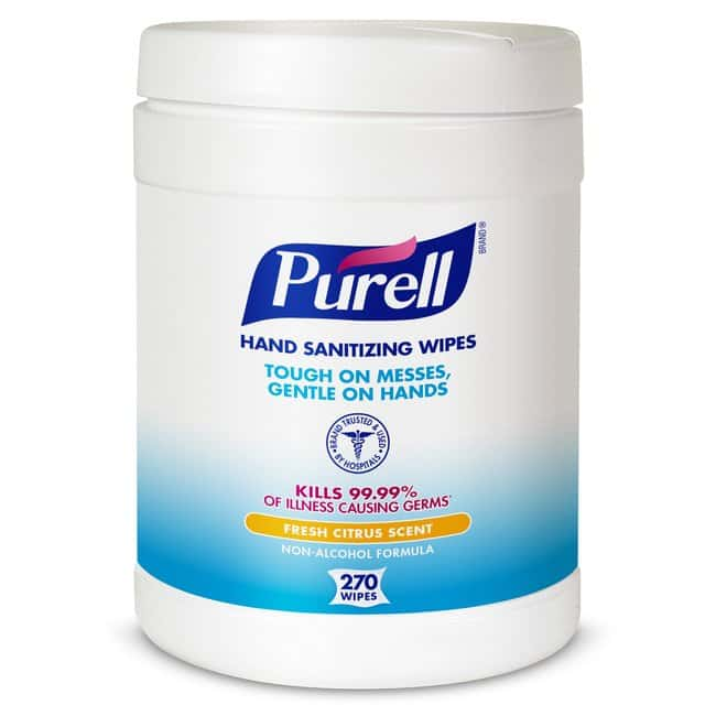 Purell Hand Sanitizing Wipes Size: 270 Count:Gloves, Glasses and Safety