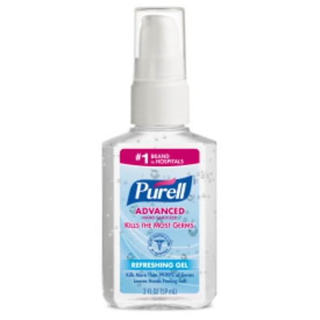 Purell Advanced Hand Sanitizer Gel Portable Pump Bottle; 2 oz.; Qty: 24:Gloves,