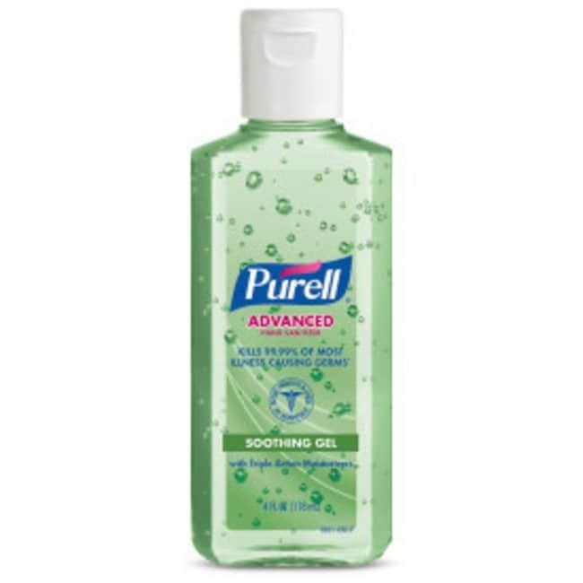 Purell Advanced Hand Sanitizer Soothing Gel Portable Flip Cap Bottle; 4