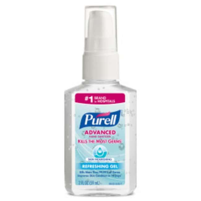 Purell Advanced Hand Sanitizer Skin Nourishing Gel Portable Pump Bottle;