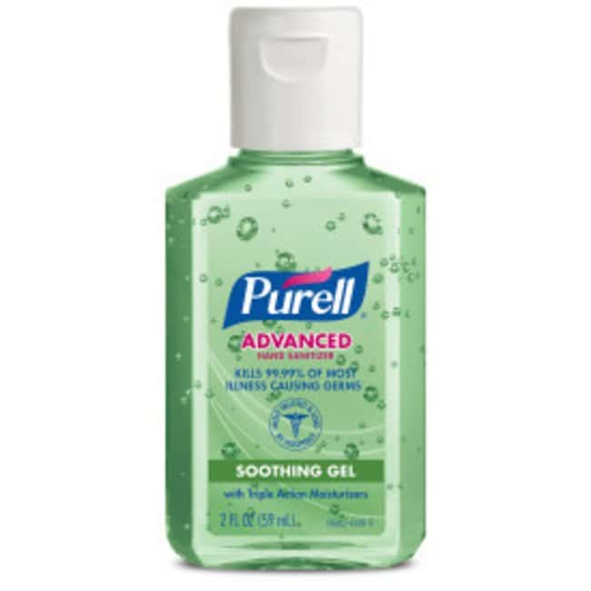 Purell Advanced Hand Sanitizer Soothing Gel Portable Flip Cap Bottle; 2