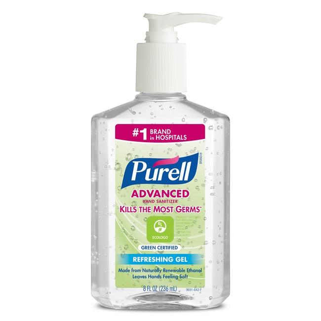 Purell Advanced Hand Sanitizer Green Certified Gel Capacity: 8 fl oz:Gloves,