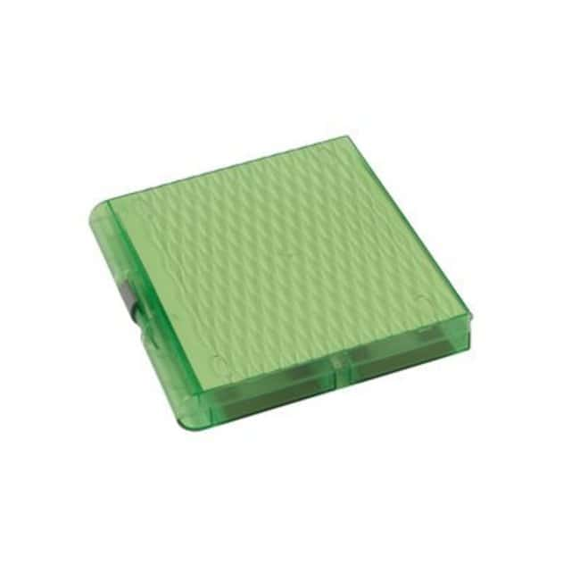 Fisherbrand Premium Plus Slide Box, 100 place Green:Racks, Boxes, Labeling