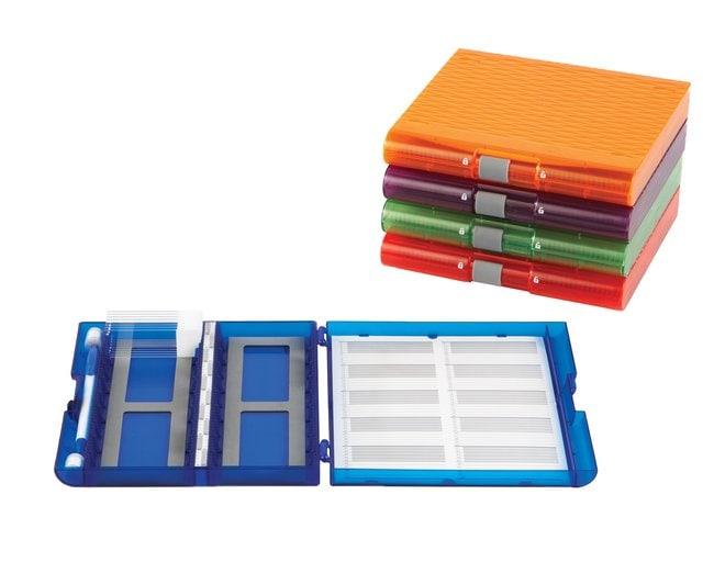 Fisherbrand Premium Plus Slide Box, 100 place Assorted Colors:Racks, Boxes,