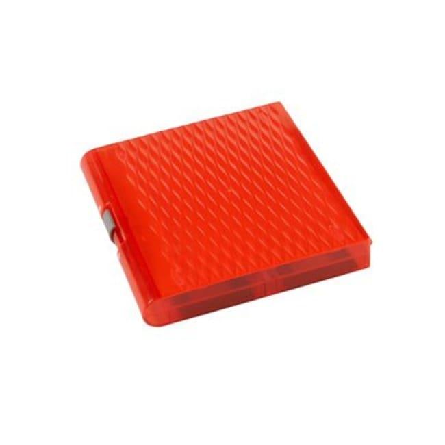 Fisherbrand Premium Plus Slide Box, 100 place red:Racks, Boxes, Labeling