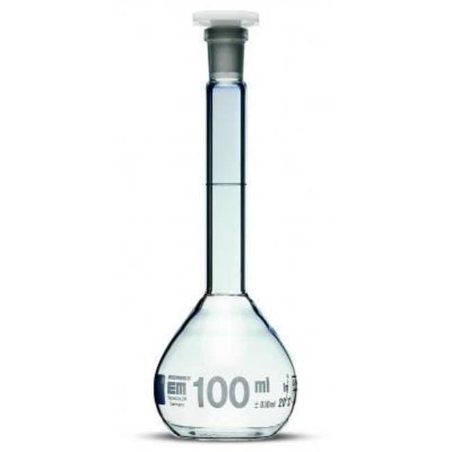 Hirschmann™Class A Volumetric Flasks with Poly Stopper, Blue Graduation Capacity: 5 mL; Standard Ground: 7/16 Hirschmann™Class A Volumetric Flasks with Poly Stopper, Blue Graduation