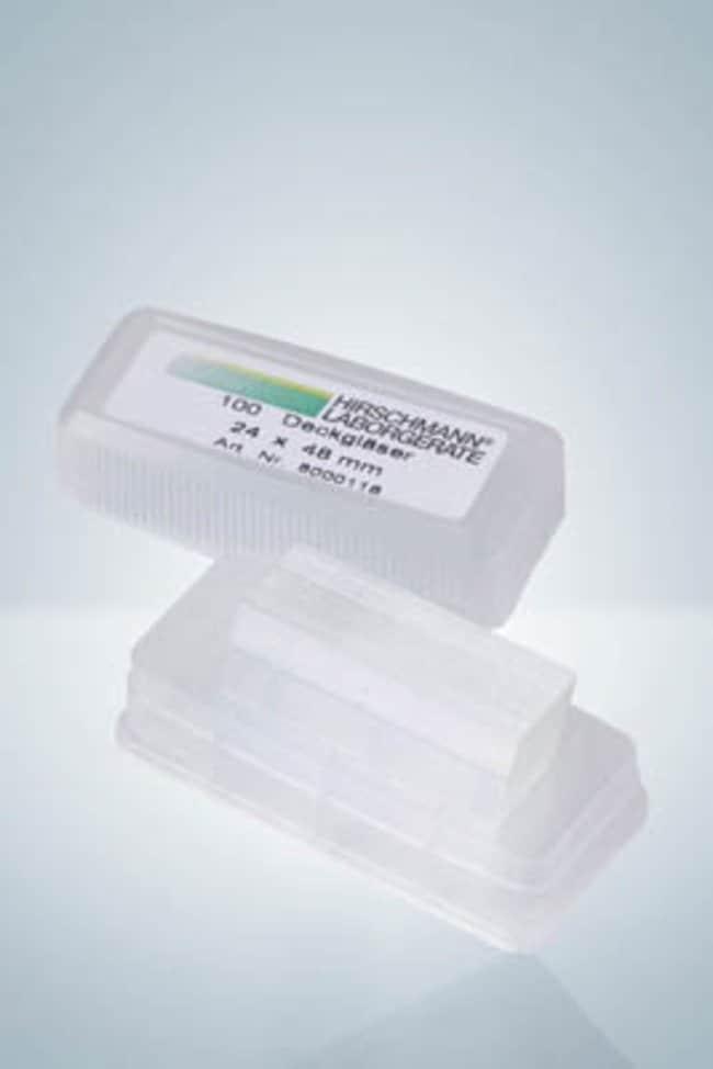 Hirschmann™Abdeckgläser für Mikroskopie Größe (LxB): 24x 48mm Hirschmann™Abdeckgläser für Mikroskopie