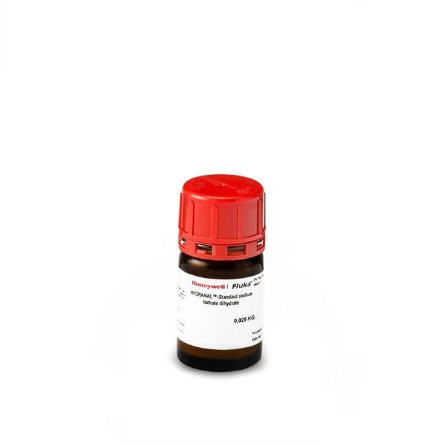 HYDRANAL™ - Standard sodium tartrate dihydrate, Standard for Karl Fischer titration (water content ∼15.66%), Honeywell™ Fluka™ 6X25G GLASS BOTTLE HYDRANAL™ - Standard sodium tartrate dihydrate, Standard for Karl Fischer titration (water content ∼15.66%), Honeywell™ Fluka™