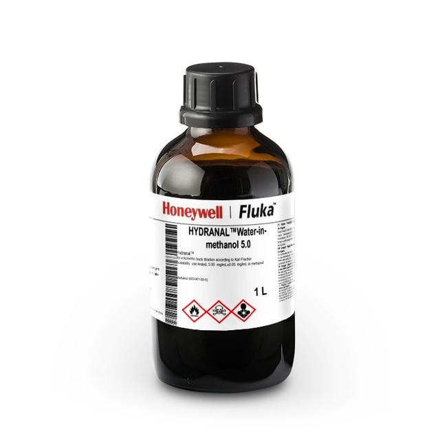 Eau dans du méthanol HYDRANAL™ 5.0, Honeywell Fluka™ FLACON EN VERRE 1L Eau dans du méthanol HYDRANAL™ 5.0, Honeywell Fluka™