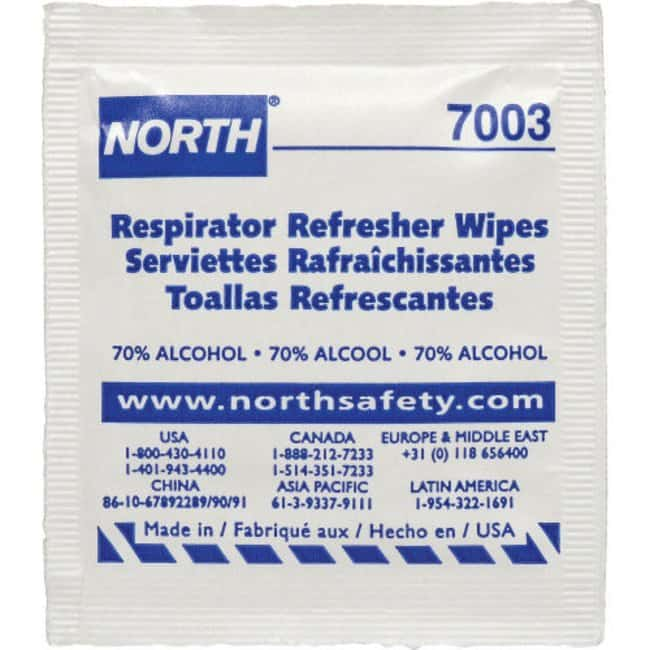 Honeywell™ North™ Refresher Respirator Wipe Pads with Alcohol