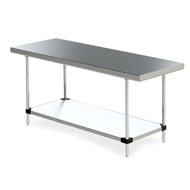 Metro™ Stationary Space Saver Worktables with Solid Shelf With solid shelf; 24 x 60 in. Metro™ Stationary Space Saver Worktables with Solid Shelf