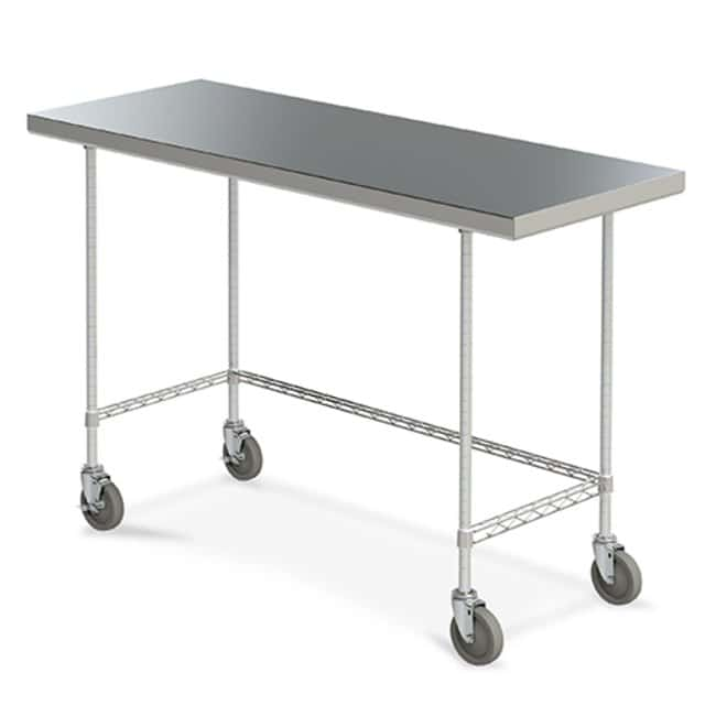Metro™Mobile Space Saver Worktables with 3-Sided Frame: Tables and Accessories Protection plan de travail