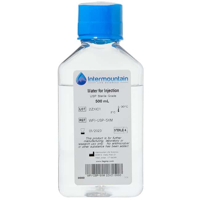 Water for Injection, USP, Sterile Grade, Intermountain