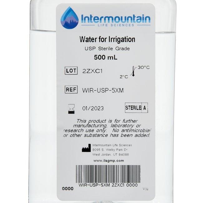 Water for Irrigation, USP, Sterile Grade, Intermountain
