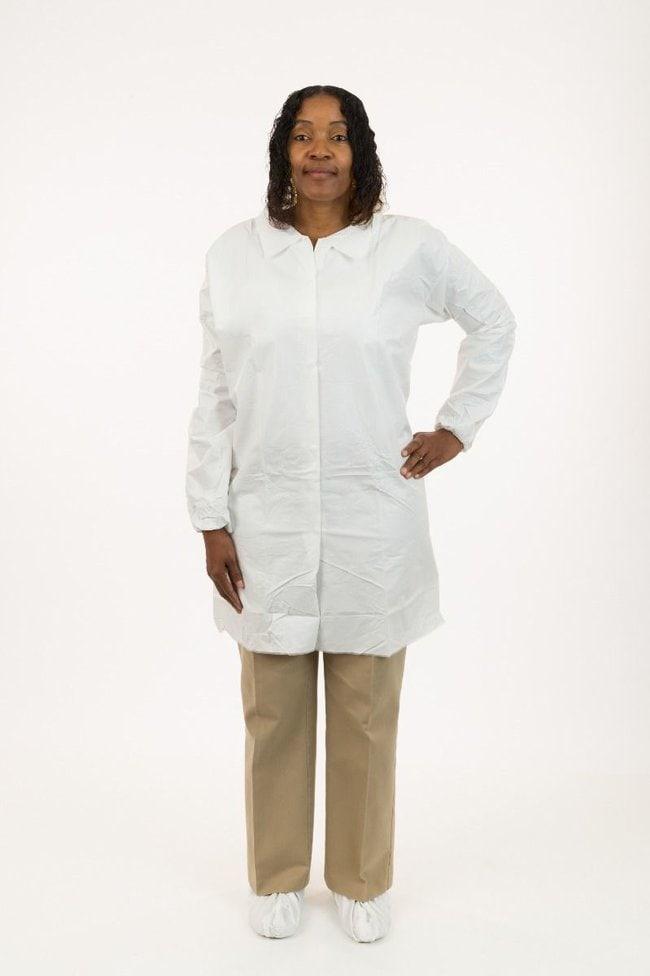 International Enviroguard MicroGuard CE Lab Coats 4X-Large; Bulk packaged:Gloves,