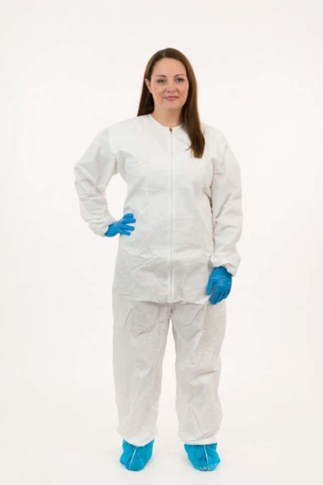 International Enviroguard GammaGuard CE Sterile Cleanroom Coveralls Medium:Gloves,