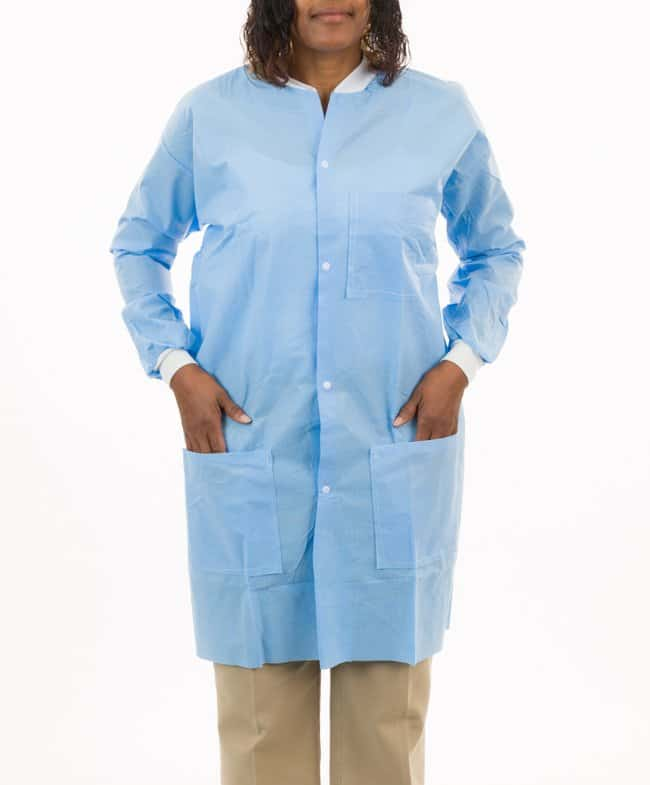 International Enviroguard 3 Pocket SMS Lab Coat with Knit Wrists (Blue)