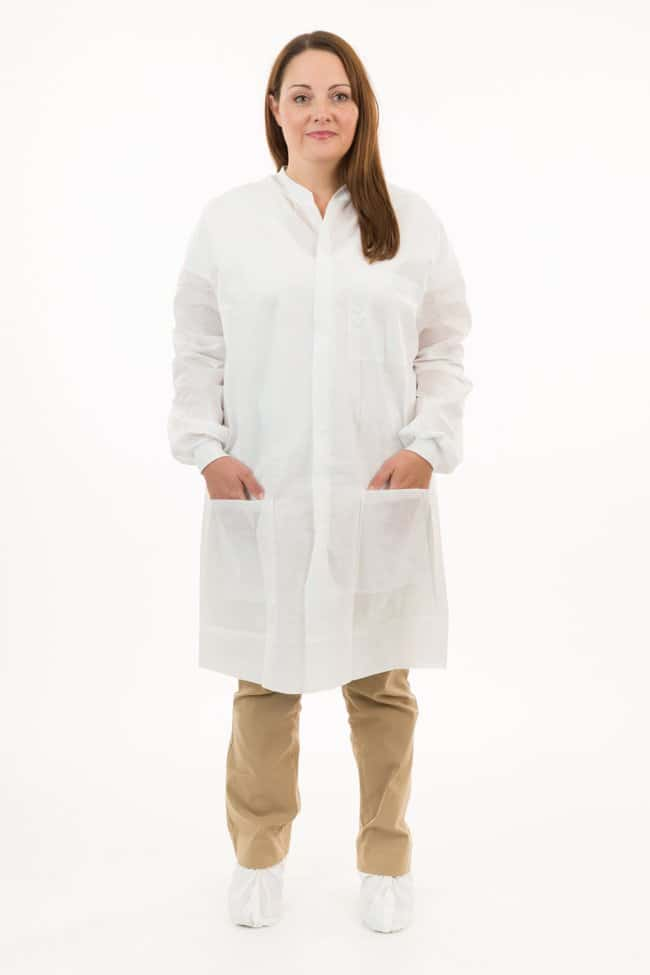 International Enviroguard 3 Pocket SMS Lab Coat with Knit Wrists (White)
