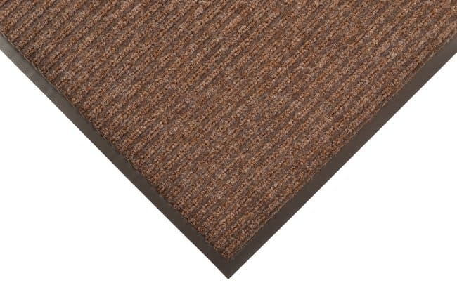 NOTRAX Brush Step Ribbed Surface Mat BROWN; 4 ft. x 8 ft.:Gloves, Glasses