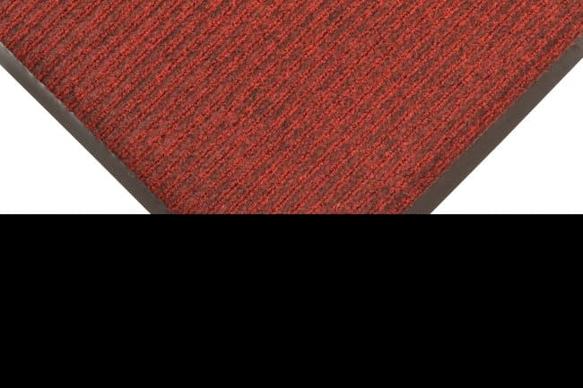 NOTRAX Brush Step Ribbed Surface Mat RED/BLACK; 3 Ft. x 5 ft.:Gloves, Glasses