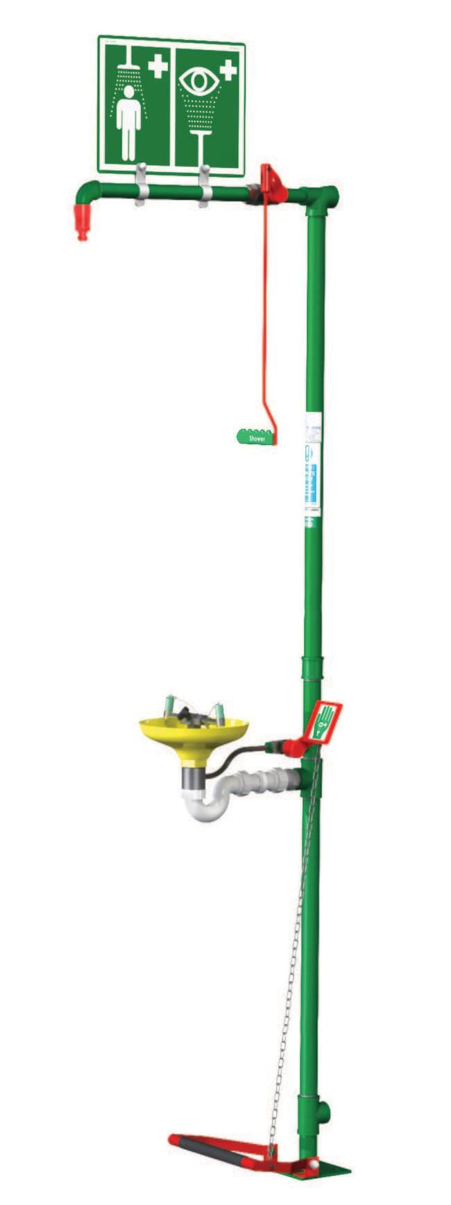 Justrite™Floor Mounted Combination Shower