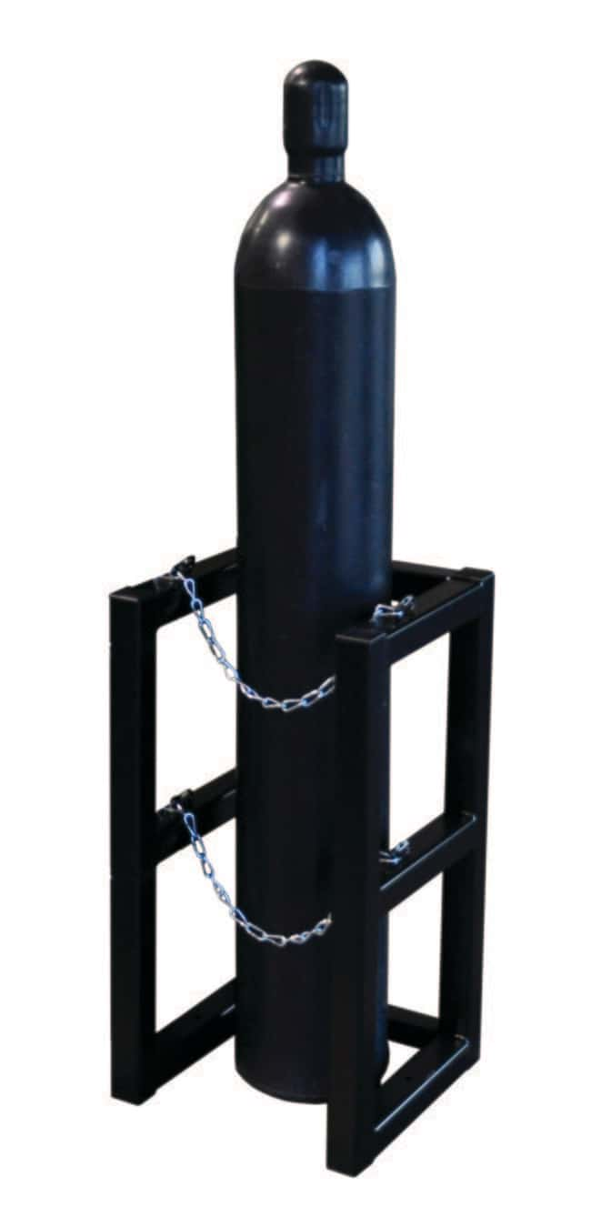 Justrite Gas Cylinder Barricade Rack 1 Cylinder Capacity, 1 Wide by 1 Deep:Gloves,