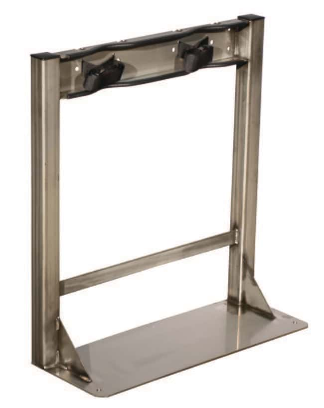Justrite Gas Cylinder Stand 2 cylinders; Stainless steel:Gloves, Glasses